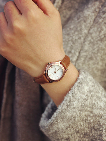 Modern Simple Steel Diamond Quartz Watch