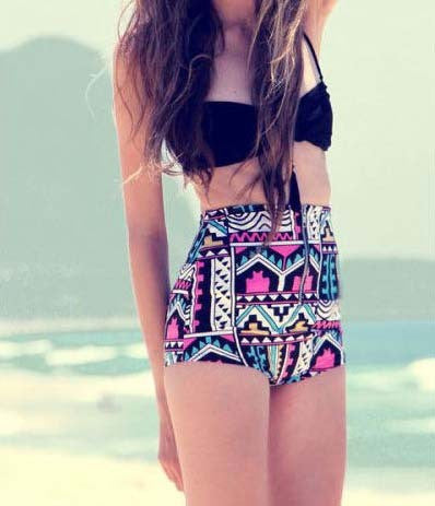 Stylish Retro High Waist Swimsuit Bikini