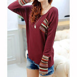 Modern Round Neck Long Sleeve Aztec Shirt