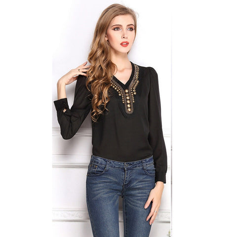Lovely Sequins Loose Top Casual Shirt