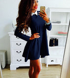 Charming Long Sleeve Loose Casual Dress