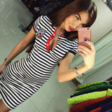 Cool Casual Stripe Slim Hip Dress