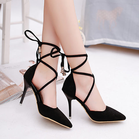 Lovely Strap Close Toe Stylish Dress High Heels