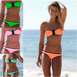 Beautiful Strapless Vibrant Swimsuit Bikini