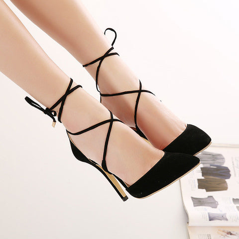 Stylish String Dress Heels