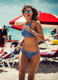 Stylish Halter Tank Fashionable Swimsuit Bikini