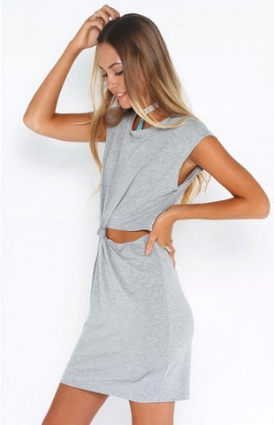 Trendy Summer Short Cotton Mini Dress