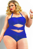 Stylish Plus Size Monokini One-Piece Swimsuit
