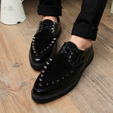 Mens Edgy Spike Casual Loafer Boots