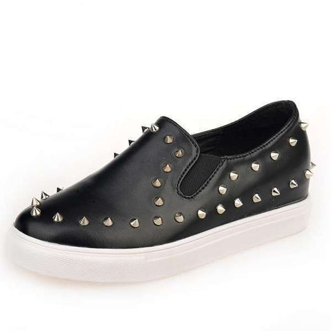 Womens Cool Studded Slip-On Sneakers