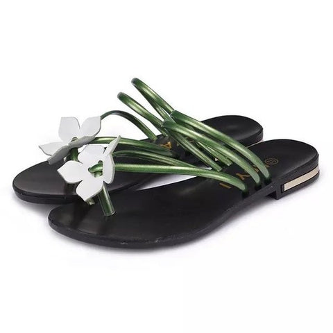 Womens Island Style Flower Sandals