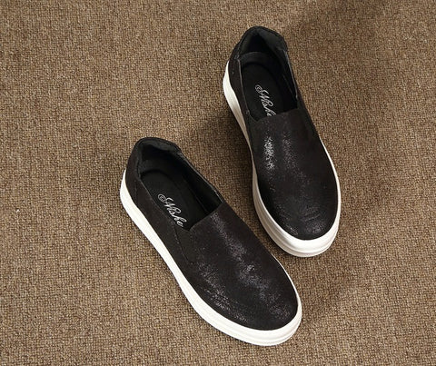 Womens Stylish Black Slip-On Casual Shoes