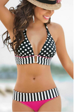 Womens Edgy Design Bikini Swimsuit