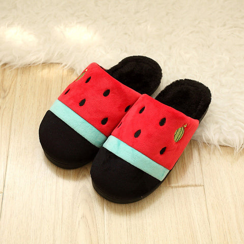 Womens Cute Watermelon House Slippers