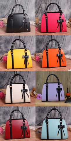 Womens Cute Bow Ribbon Casual Handbag
