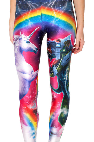 Womens Sexy Unicorn Rainbow Print Tight Leggings