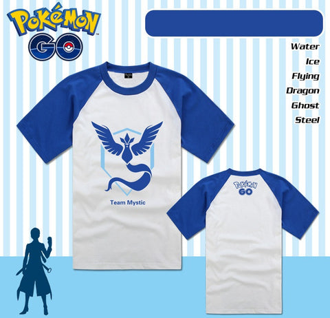 Pokemon Go Mystic Instinct Valor Raglan T-Shirt