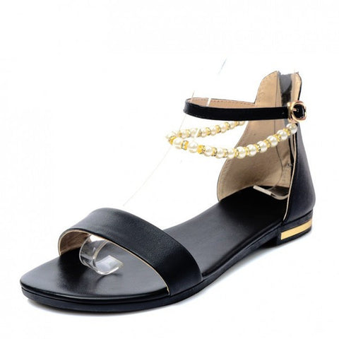 Womens Charming Beaded Casual Sandals