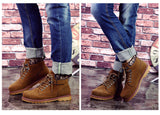 Mens Trendy Rugged Urban High-Top Boots