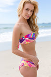 Womens Sexy Vibrant Bandage Strapless Push Up Bikini