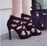 Fashionable Ankle Strap High Heels
