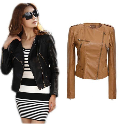 Trendy Urban Leather Short Motorcycle Jacket