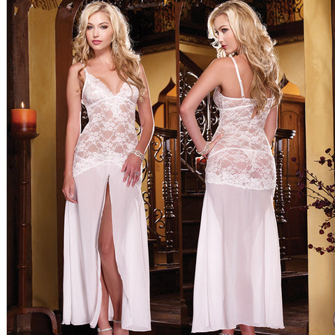 Beautiful Lace V-Neck Dress Lingerie