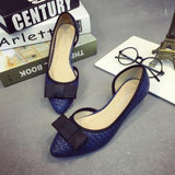 Lovely Weave Ribbon Casual Kitten Heels