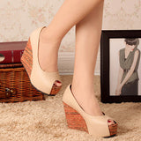 Beautiful Peep Toe Cool Wedges