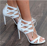 Pretty Evening Party Leather Heels