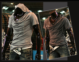 Mens Stylish Casual T-Shirt Hoodie
