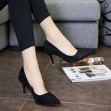 Modern Point Toe Stylish Kitten Heels