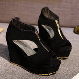 Comfortable Open Toe Wedge Platforms