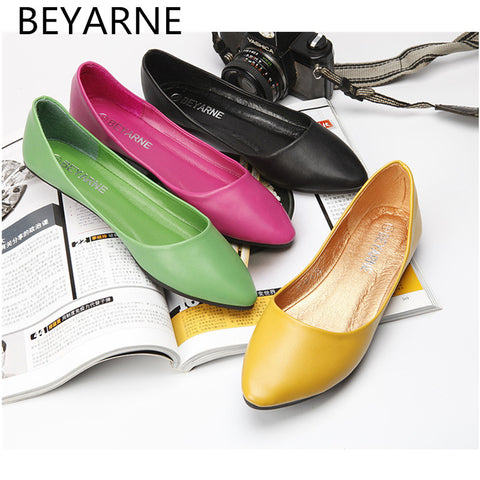 Womens Ballerina Flats Pointed Toe Bowtie Sweet Flat Shoes