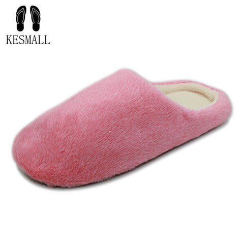 Womens Indoor House Slipper Soft Plush Cotton Cute Shoes Non-Slip Floor Home Furry Slippers