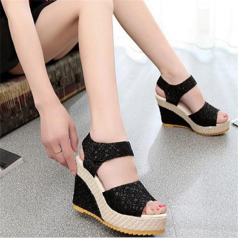 Womens Bohemia Platform Sandals Casual Fashion Wedge Gladiator Sexy Female Sandals