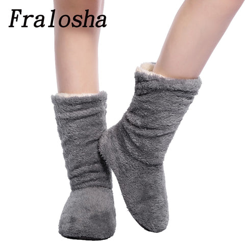 Womens Plush Home Coral Fleece Indoor Floor Sock Winter Foot Warmer Soft Slippers