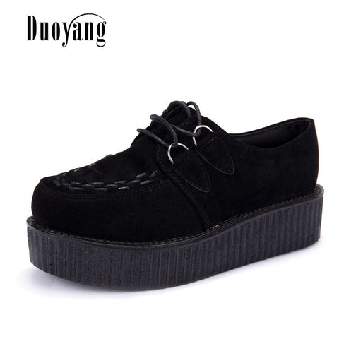 Womens Stylish Retro Punk Platform Casual Shoes