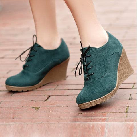 Womens Comfortable Fashion Platform Casual Shoes Solid Short Knight Boots