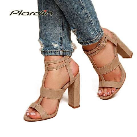 Womens Hot Ultra High Hollow Out Thick Sandal Strap Roman High Heels