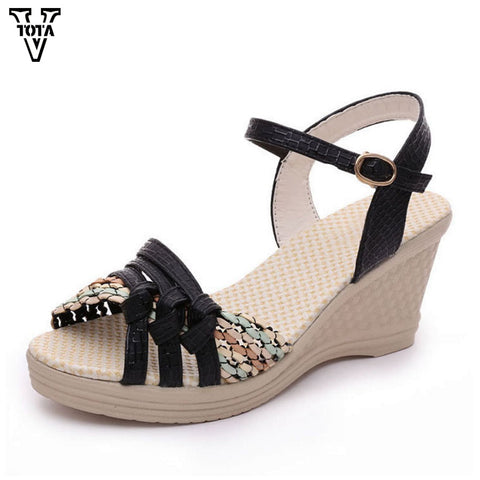 Womens Summer Sandals Wedges Platform Shoes
