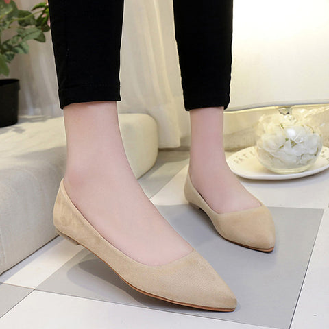 Womens Flats Fashion Casual Shoes Ballet Slip On Flat Shoes
