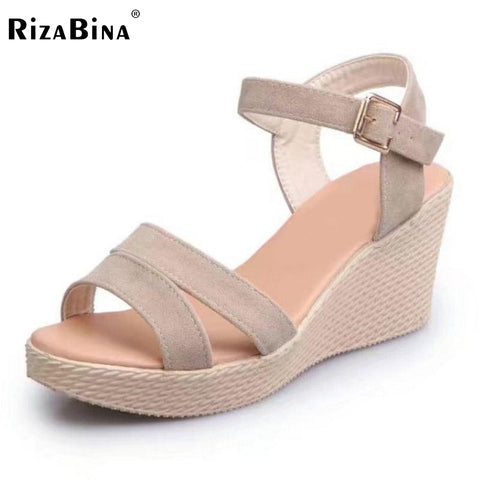 Womens Sexy Summer Wedges Sandals Ankle Strap Platform Wedges Sandals