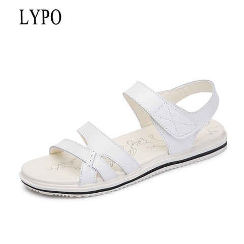Womens Casual Comfortable Basic Strap Slip On Sandals