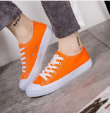 Womens Sneakers Vulcanize Shoes Lace Up Ladies Casual Canvas Shoes