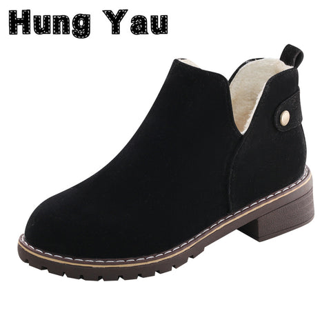 Womens Warm Thick Snow Ankle Cotton Boots Fashion Shoes