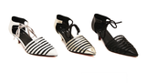 Urban Stripe Kitten Stylish Low Heels