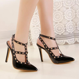 Womens Edgy T-Strap Stylish High Heels