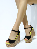 Fashionable Open Toe Wedge Platforms