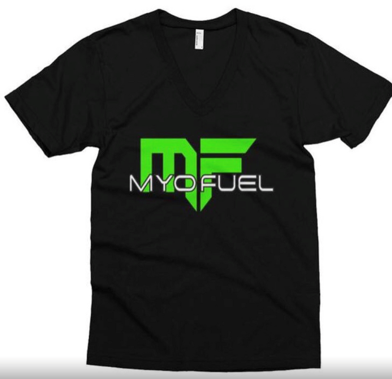 Myo Fuel Women's fitted V-Neck Shirt